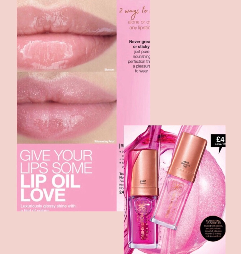 Luxurious glossy lip oil