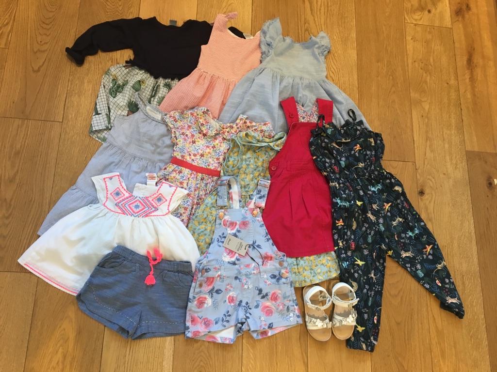 Girl summer bundle, dresses etc. 2-3 years