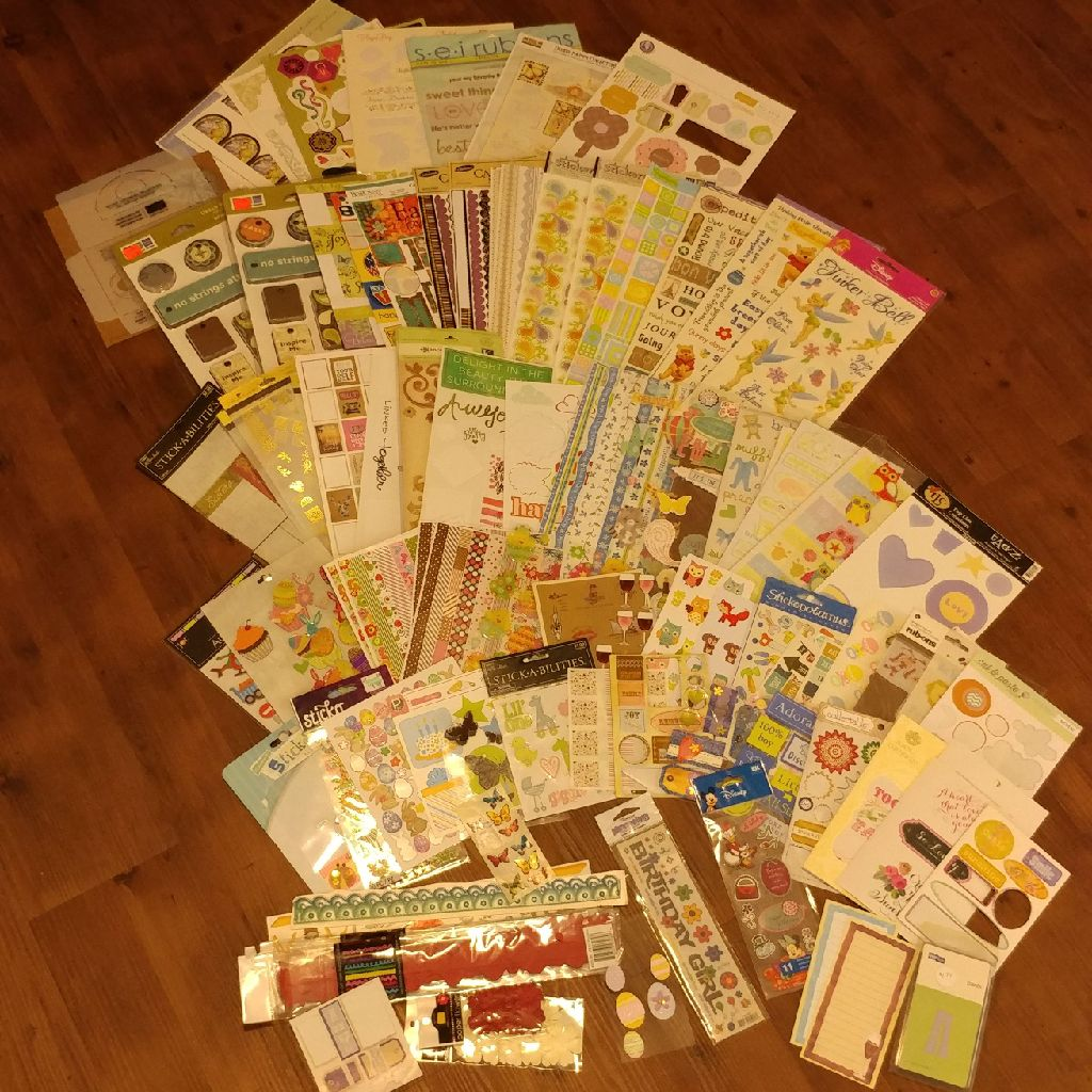 Scrapbooking/card making stickers (please read description on price)