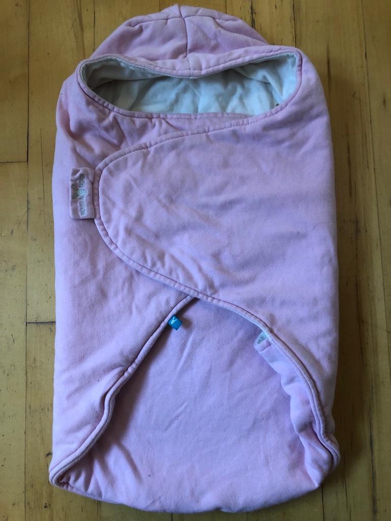Wallaboo pink swaddling blanket