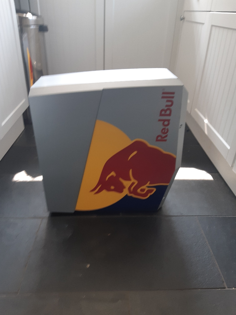 Red bull mini fridge