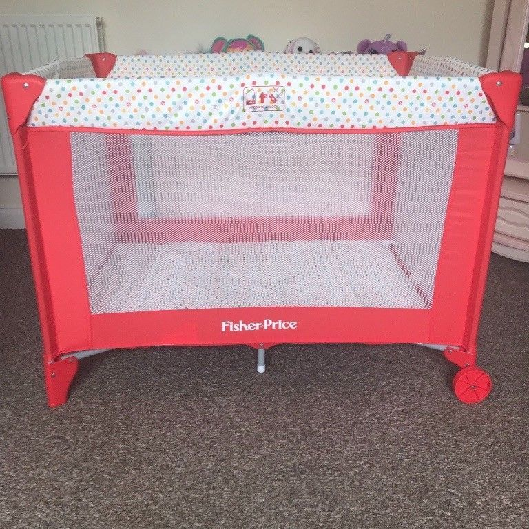 Red king Fisher price travel cot