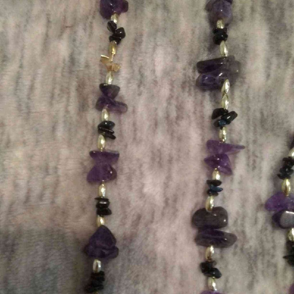 Handmade Amethyst necklace and matching bracelet