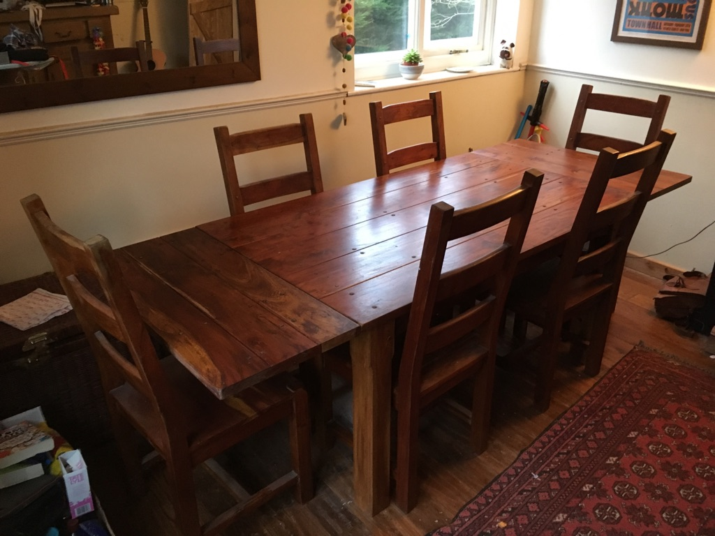 6-8 seat Dining table and chairs