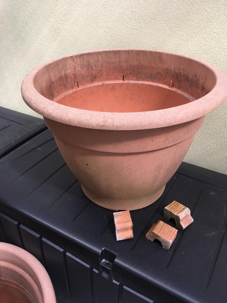 Two Large garden pots
