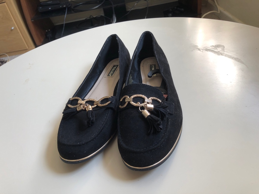 Black shoes size 8 from primark