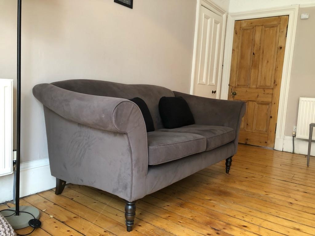 Velvet sofa & love seat