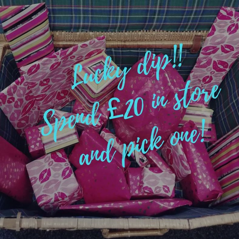FREE gift with any transaction of £20 or more instore
