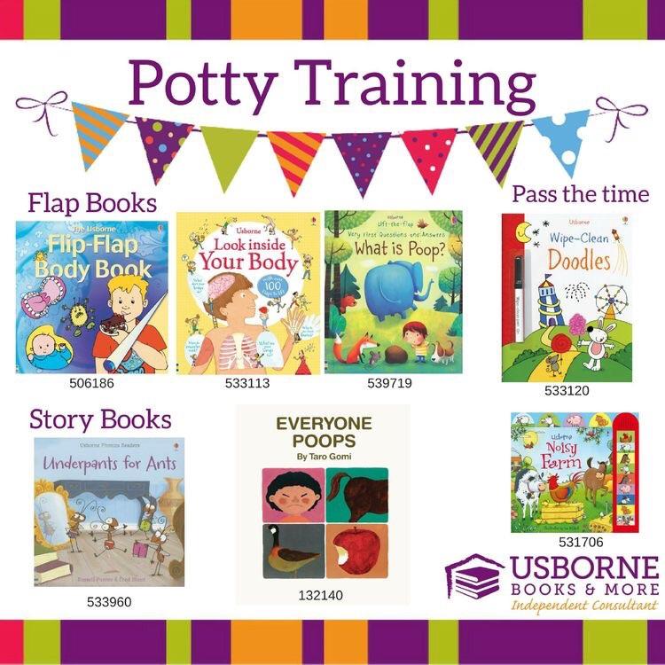 Potty training range from Usborne Books