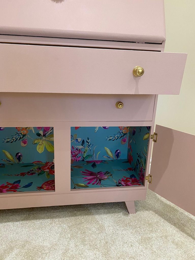 A beautiful hand painted bureau - SOLD