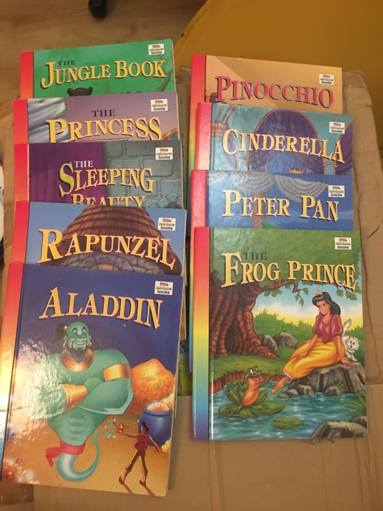 Set of 9 vintage little Rainbow Books (popular Disney like stories)