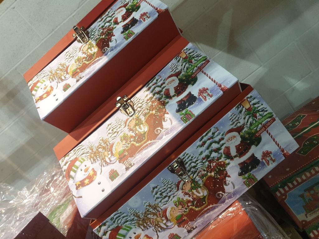 3pcs xmas chest boxes