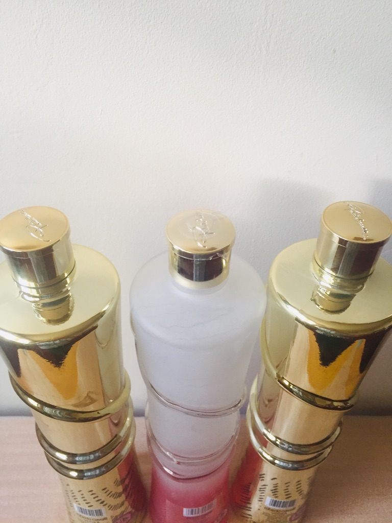 Empty bottles Roberto Cavalli.