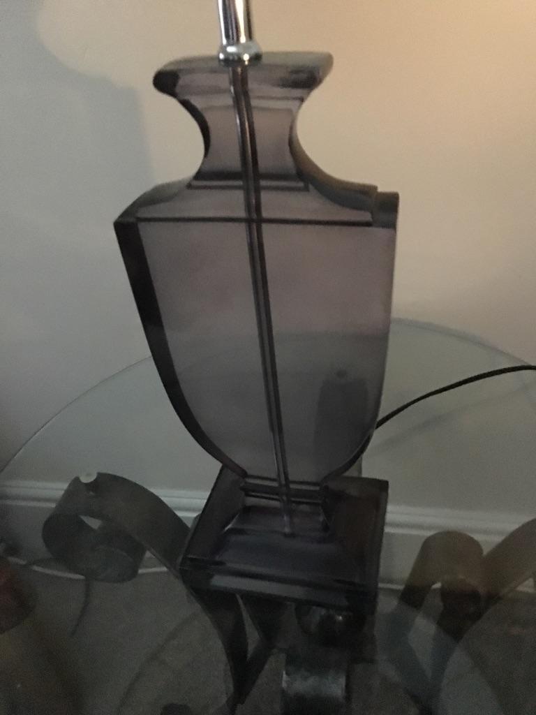 Lamp stand smoke grey glass
