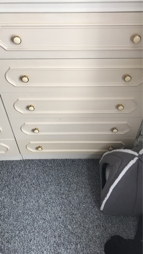 Chest of draws and arm chair