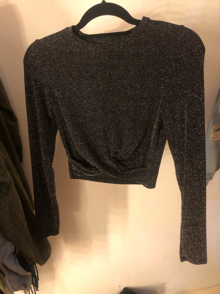 Glittery top size S