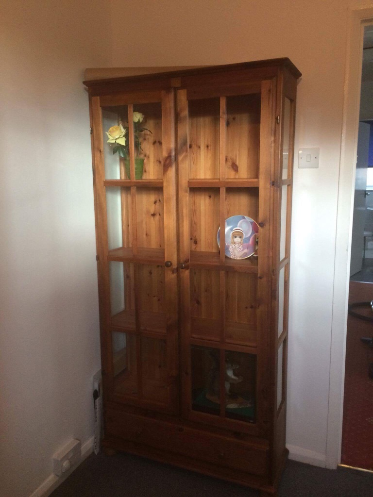 Oiled Pine Cabinet