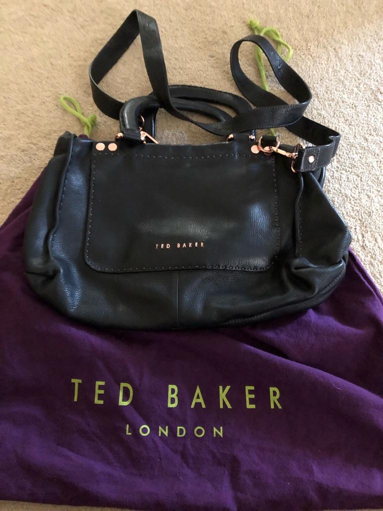 Ted Baker leather handbag & Dust Bag Black