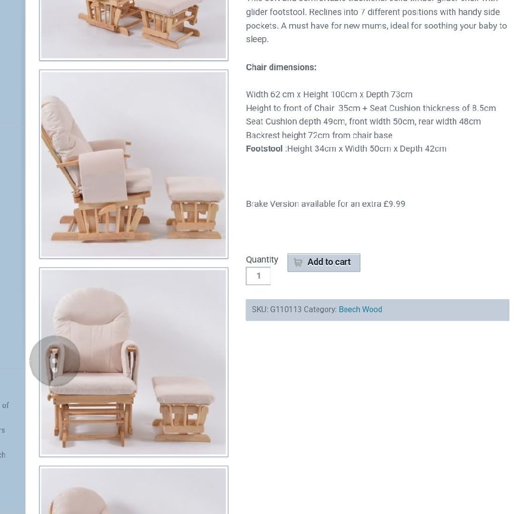 Nursery Rocking Feeding Chair