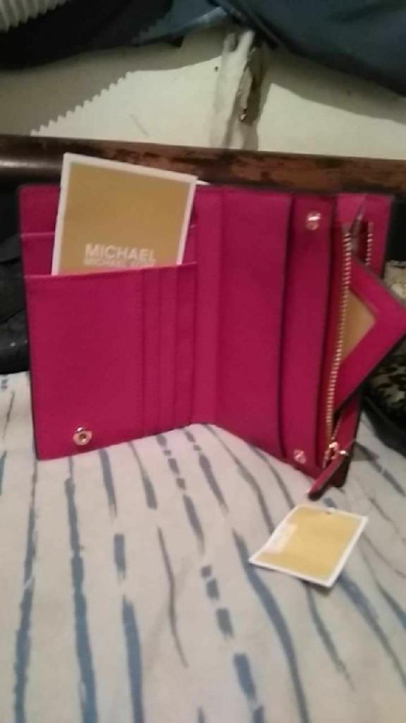 Brand New Michael Kors pink wallet