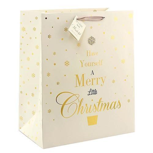 Mad dots large merry Christmas gift bag