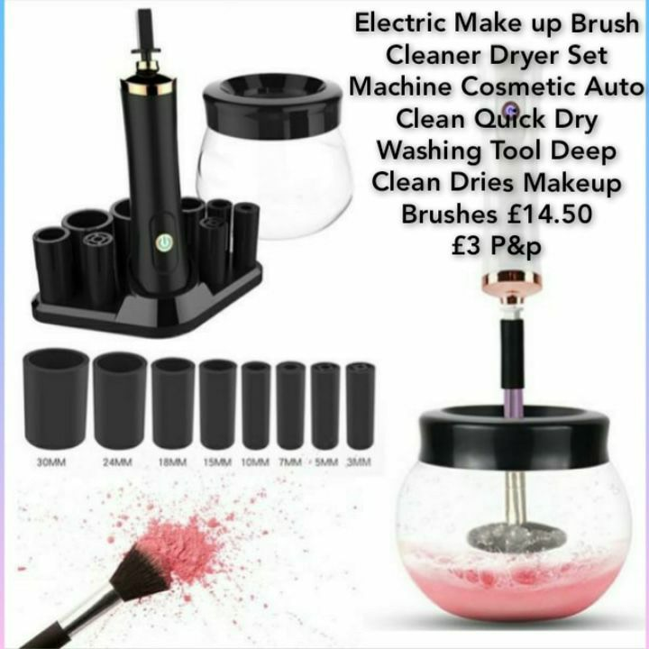 Electric Make up Brush Cleaner Dryer Set Machine Cosmetic Auto Clean Quick Dry Washing Tool Deep Clean Dries Makeup Brushes