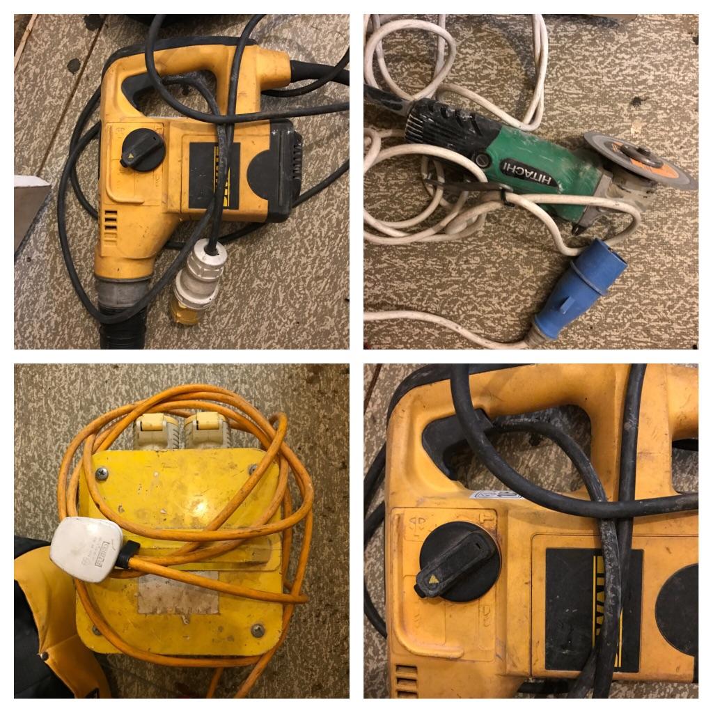 Hammer drill, grinder,transformer,