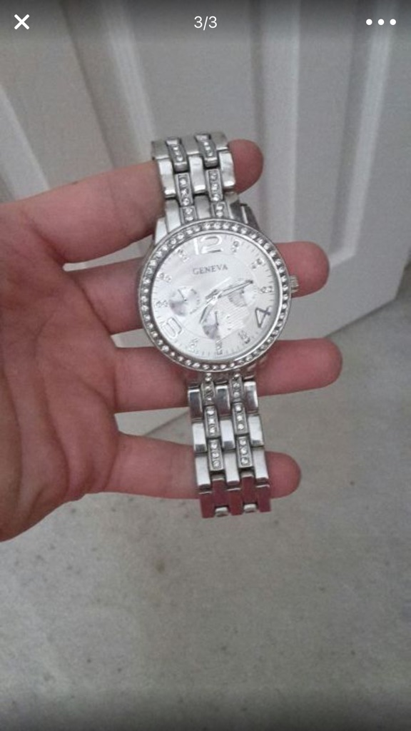 Geneva silver plated watch