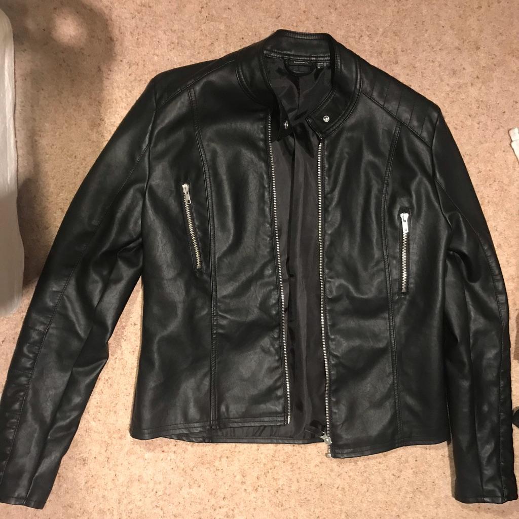 Black leather jacket jacket