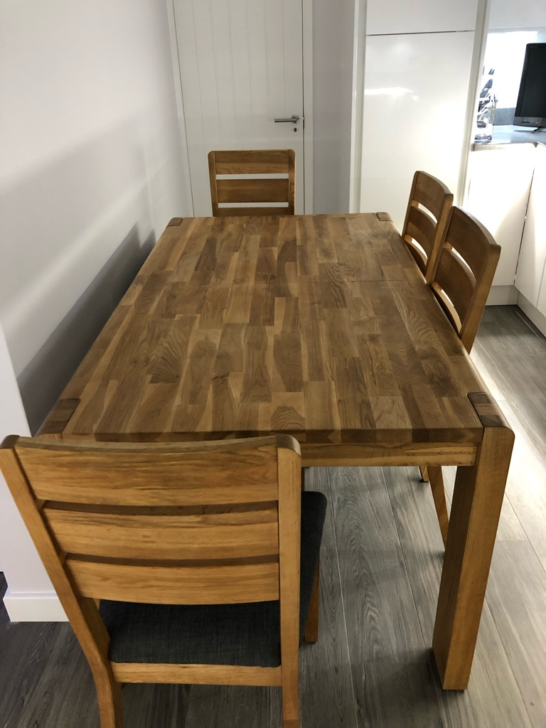 Table chairs & bench