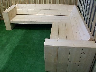 Norway spruce style wooden corner seating
