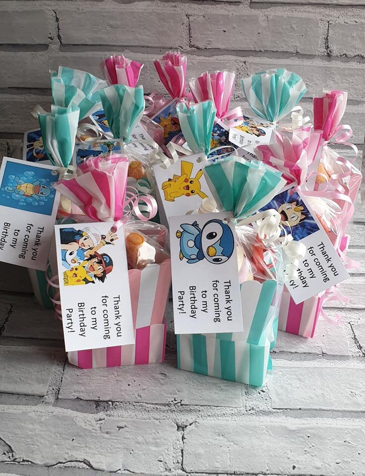 Popcorn sweet party bags