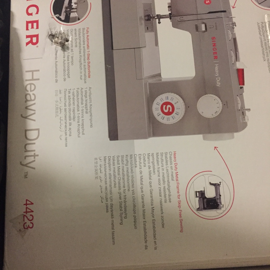 Singer Heavy Duty Sewing Machine as new
