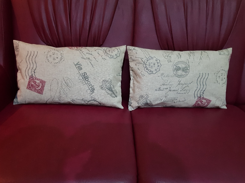 A pair of cushions cover