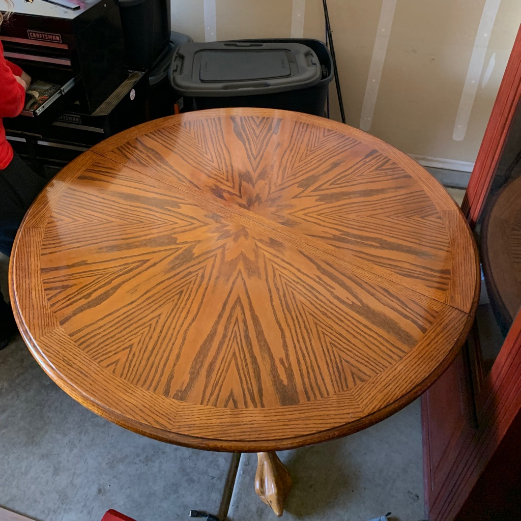 Vintage solid oak wood table