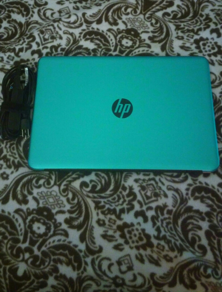 17.3 HP Touch Screen Teal laptop