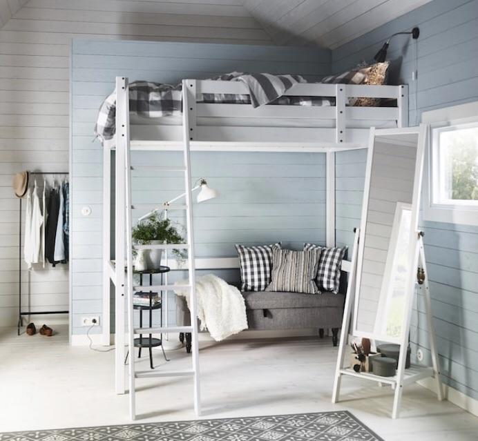 IKEA STORÅ | Loft Bed Frame | Double | White | No Mattress