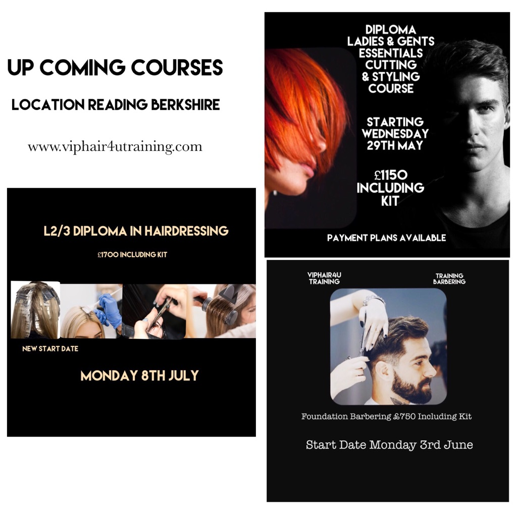 Upcoming Hairdresser Barbering Courses