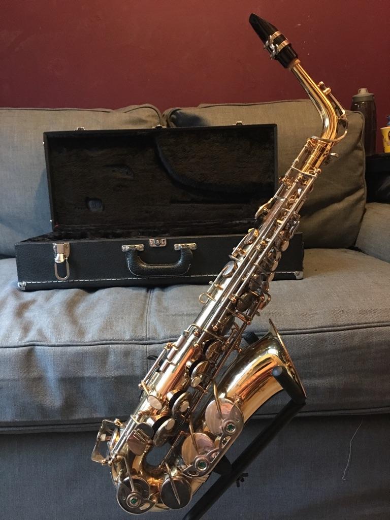 Beginner alto saxophone