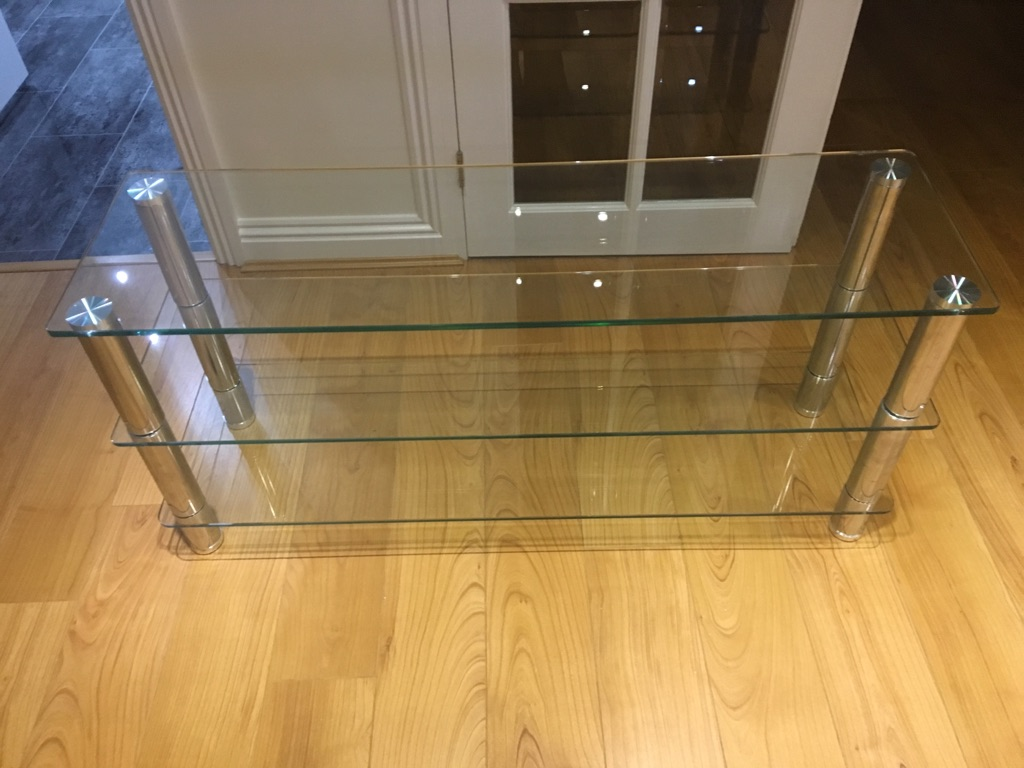 Glass TV stand and Oblong table