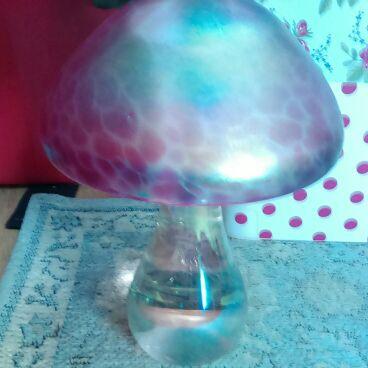 Glass mushroom ornaments