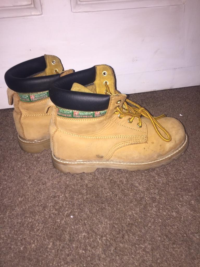 Steel toe cap work boots size 6