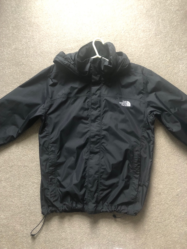 North face black waterproof  jacket (small men's )