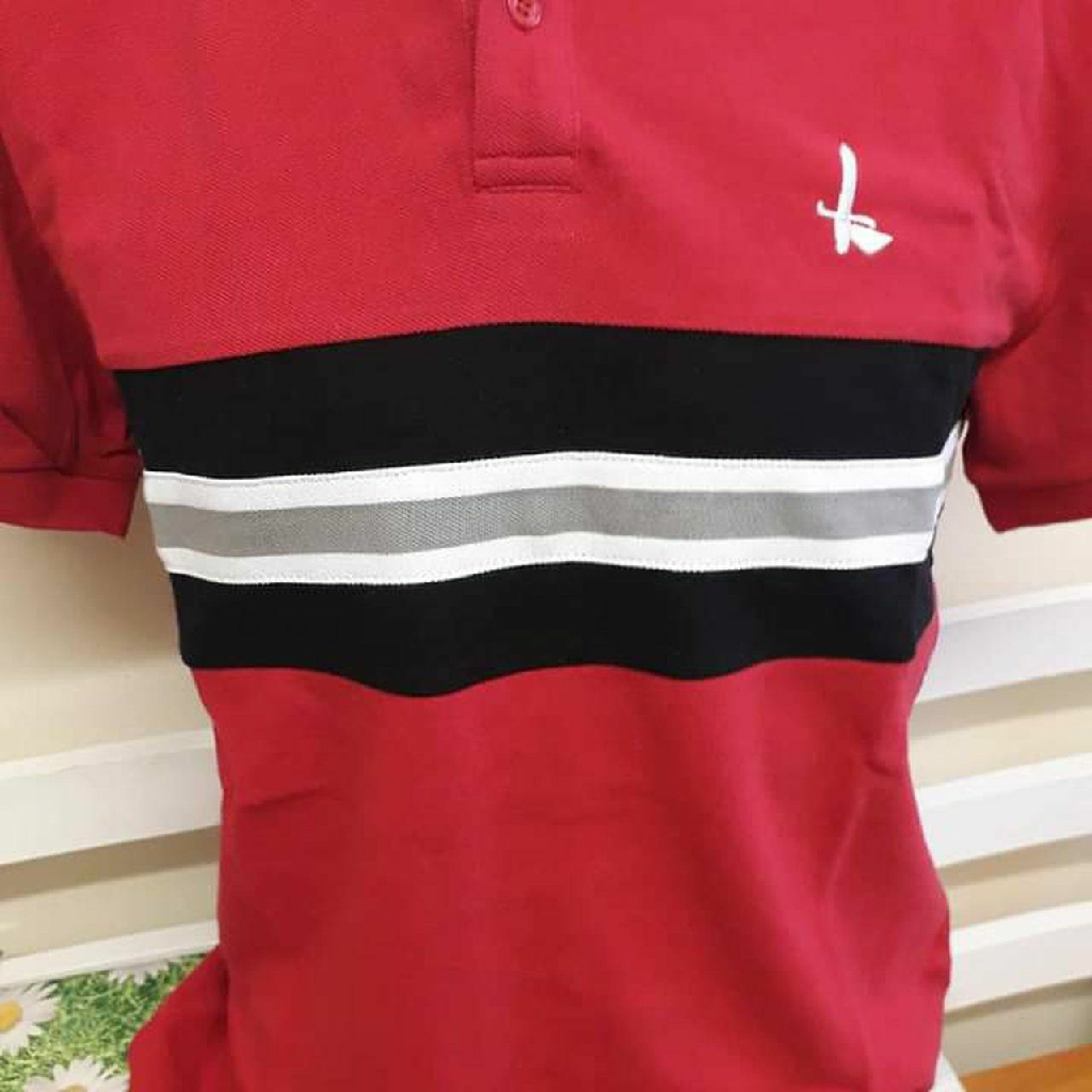 Charlton Athletic Official Football  Club Stripe Panel Tee Shirt Red White RRP£30
