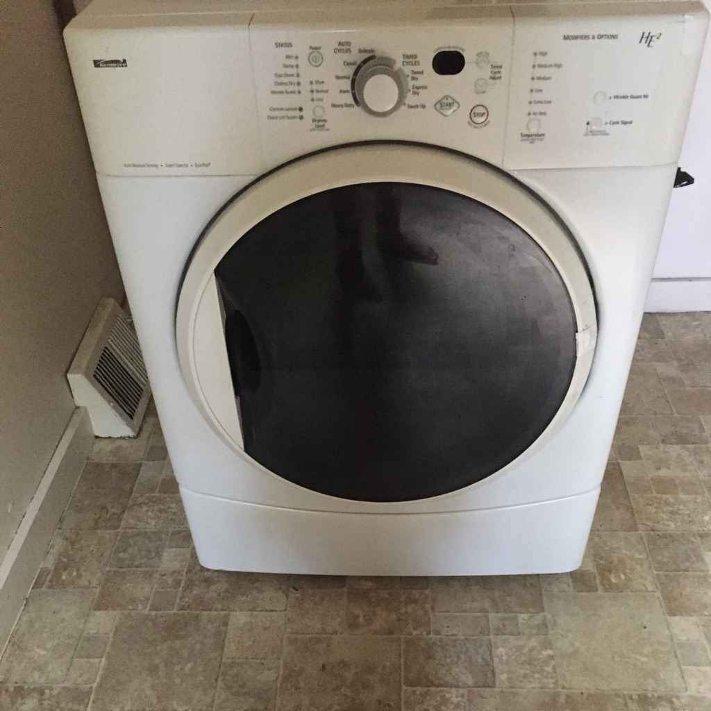 White front-load dryer
