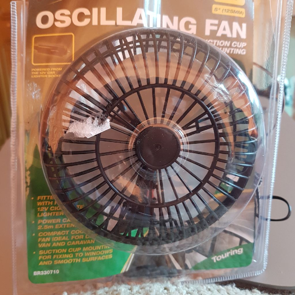 "oscillating 12v 5""fan"
