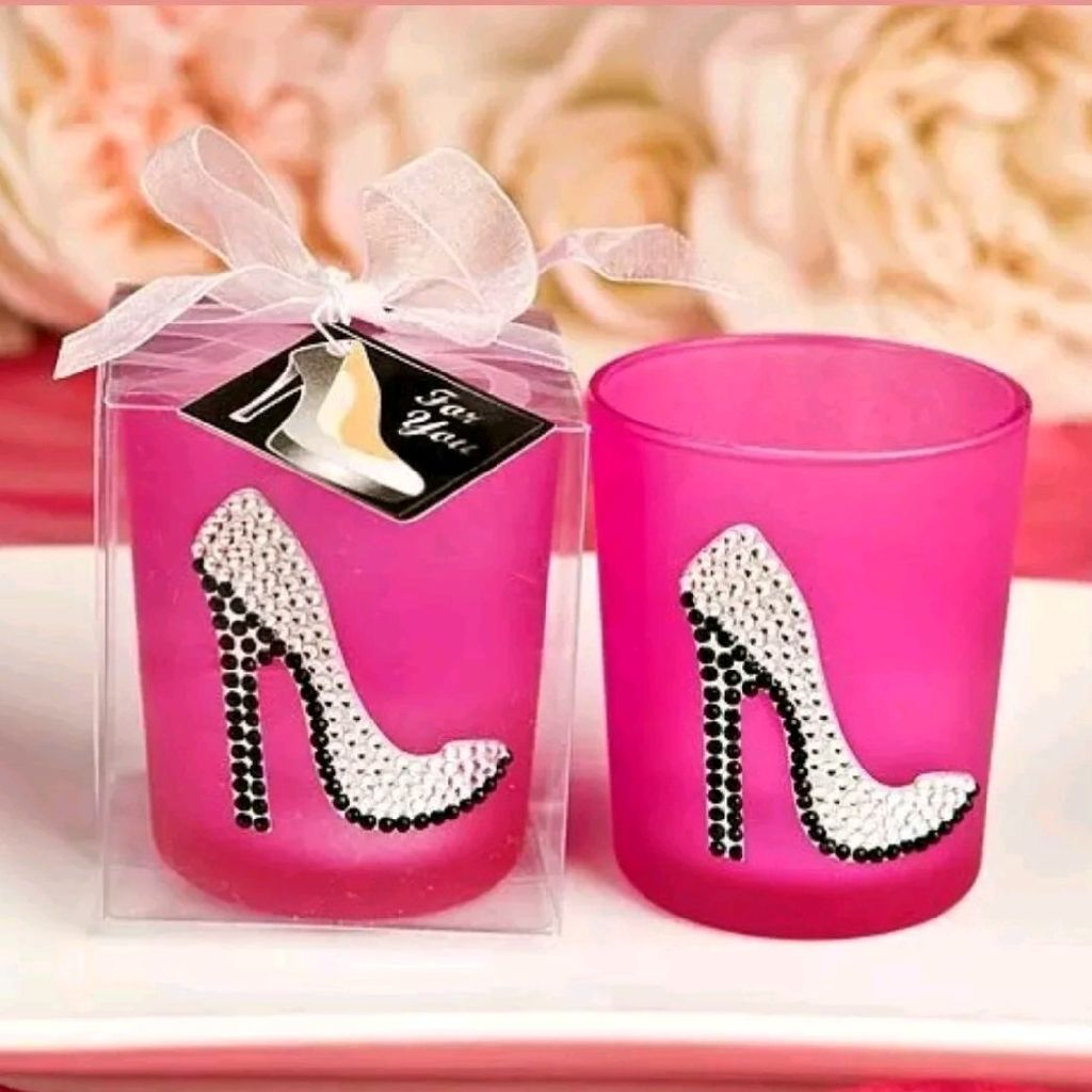 5 girly heel high heels shoe candle holder