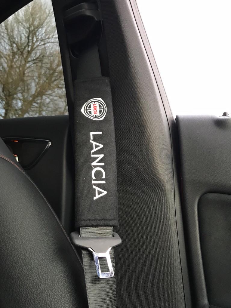 2X Seat Belt Pads Gift Lancia Delta Beta Fulvia Prisma 2000HF Sport Tuning
