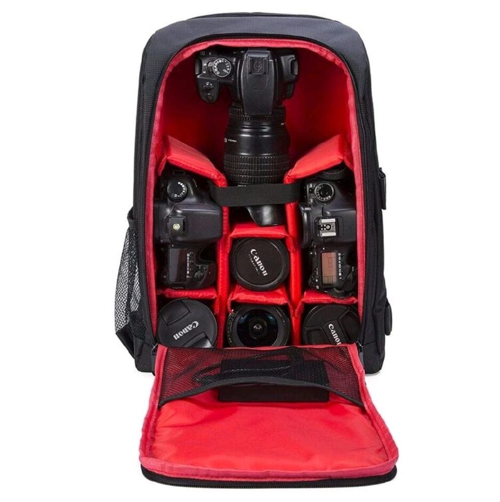 G Raphy Camera Backpack Black/Red for DSLR SLR Cameras BRAND NEW