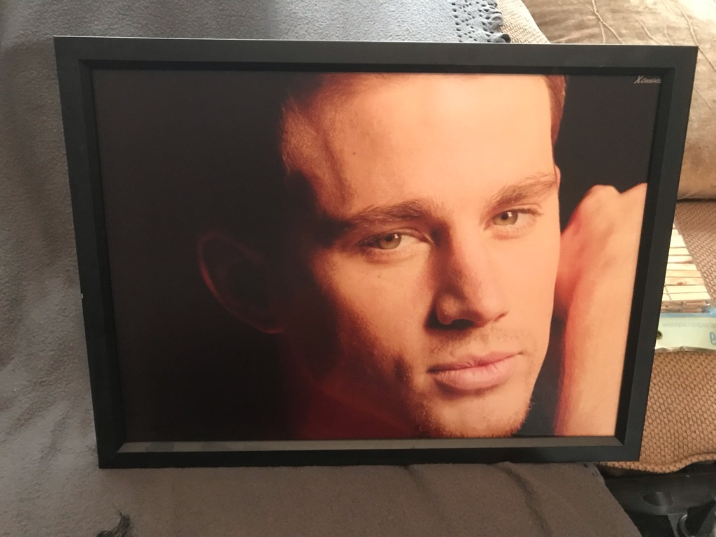 Framed Channing Tatum prints x2